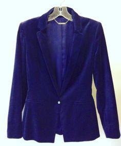 #ElieTahari #Velvet #Blazer #Jacket #SmokingJacket | Size 8 | $136! Call for more info (781)449-2500. #FreeShipping #ShopConsignment  #ClosetExchangeNeedham #ShopLocal #DesignerDeals #Resale #Luxury #Thrift #Fashionista