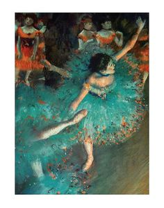 Dancer by Degas  - Grandma and Grandpa G had this painting.  Have always liked it for the theatrical aspects too.