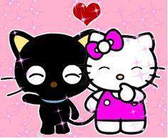 Chococat and Hello Kitty