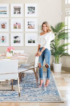 The 1 Brilliant Way This Fashion Blogger Made Her Glam Dining Room Kid-Friendly