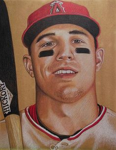 """Michael """"Mike"""" Nelson Trout by artist Brent Naughton"""