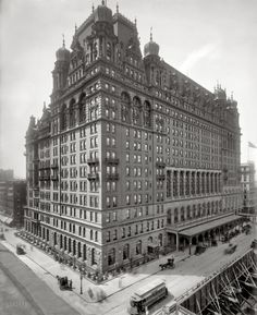 Circa 1902. The Waldorf-Astoria,The original Waldorf at Fifth Avenue and 34th Street.