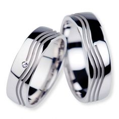 These unique solid white Gold His and Her Matching Wedding rings are Satin finish.Price is for both wedding rings.The ladies wedding ring has 1 Round shiny diamonds.Total weight of all diamonds is ct.Both wedding bands are wide. Matching Wedding Rings, Matching Rings, Wedding Matches, Wedding Rings For Women, Wedding Bands, Rings For Men, Couple Rings, Beautiful Gift Boxes, Wedding Themes