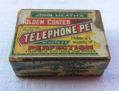 John Heath's Telephone Pen vintage box. by essenzials on Etsy