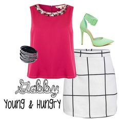 """""""Gabby Diamond   Young & Hungry"""" by cheerleader2897 on Polyvore featuring Yumi"""