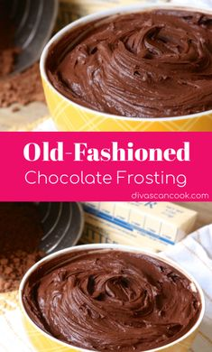 Chocolate Frosting Recipe Easy Homemade Frosting for Brownies Cakes and Cupcakes! With just 5 ingredients and 5 minutes, you'll have the BEST buttercream cocoa frosting ever! Go grab the recipe and give it a try this week! Mini Desserts, Just Desserts, Delicious Desserts, Dessert Recipes, Thm Recipes, Cupcake Recipes, Chocolate Icing Recipes, Homemade Chocolate Frosting, Chocolate Chocolate