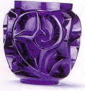 Lalique Tourbillon Purple Vase