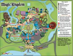 Magic Kingdom Map including Fastpass Plus locations, rides, shows ...