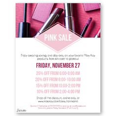 Mary Kay Pink Sale!! Perfect for Pink Friday or Cyber Monday or any other sale throughout the year! Customize all the details! Find it only at www.thepinkbubble.co!!