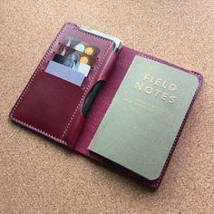 Julian - A handmade leather wallet / cover / case for your Field Notes Notebook by madebynick on Etsy