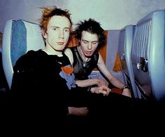 Sid Vicious and Johnny Rotten