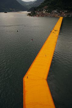 """The Floating Piers"", le nouveau coup de maitre de Christo"
