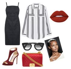 """""""Smart"""" by vhyko on Polyvore featuring Jimmy Choo, Oasis, Prada, Chanel and Lime Crime"""
