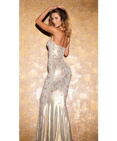 SUSAN METALLIC GOWN WITH GOLD
