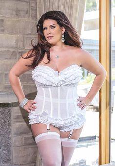 fc45df99ed Plus Size Polka White Corset. Wedding UnderwearWedding LingerieWedding  DressHoneymoon ...