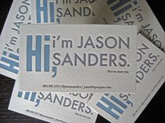 casual personable business cards