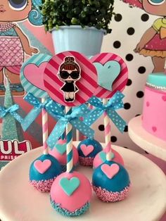 cake pops at this LOL Surprise Dolls Birthday Party are so cute! See more party ideas and share yours at The cake pops at this LOL Surprise Dolls Birthday Party are so cute! See more party ideas and share yours at 6th Birthday Parties, Birthday Cake Girls, Surprise Birthday, 7th Birthday, Birthday Ideas, Surprise Cake, Cake Pops, Lol Doll Cake, Doll Party