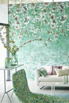 Designers Guild, Daisy, Marlow, House Styles, Wallpaper, Floral, Rooms, Bedroom, Collection