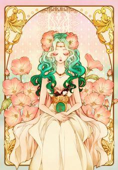 セーラーネプチューン / 海王みちる Sailor Neptune / Michiru Kaioh by sizh - Sailor Moon fan art Sailor Moons, Sailor Pluto, Sailor Moon Dress, Arte Sailor Moon, Sailor Moon Fan Art, Sailor Moon Tattoos, Manga Anime, Manga Art, Anime Sexy