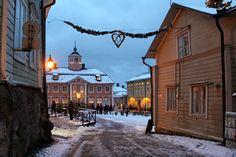Vanhan Porvoon joulutunnelmaa #porvoo #finland