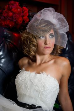 Gorgeous pouffy veil by Serephine {Jonathan Ivy Photography}