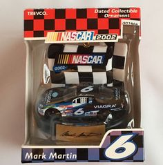 NASCAR 2002 Ornament Mark Martin #6 New Sealed 1:64 Die Cast #RoushFenwayRacing