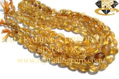 Citrine Smooth Oval (Quality D) Shape: Oval Smooth Length: 36 cm Weight Approx: 29 to 31 Grms. Size Approx: 7x9 to 11x15 mm Price $2.70 Each Strand