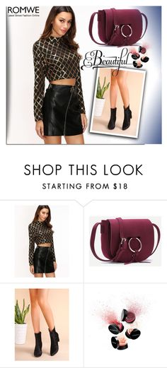 """""""ROMWE 1"""" by melissa995 ❤ liked on Polyvore featuring Smashbox"""