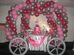 Carriage Balloon Arch for a Princess