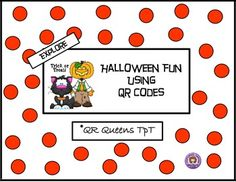 Great for centers and early finishers! IPad/iPod/tablet activities! This product is 50% off in our Autumn Bundle using QR Codes! How fun to learn by scanning QR codes! Great for centers with iPads/tablets/iPods. Halloween Fun with QR Codes K-2 $