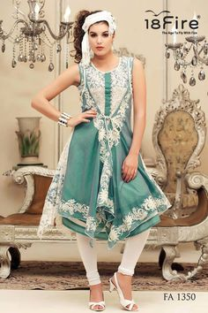 Designer Kurtis from 18 Fire Collection on heart emoticon  www.18fire.net/Buy/Long-Kurtis/Printed-Long-Party-Wear-Kurti-105-36  At Rs.4995/- Only The Young