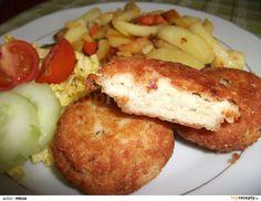 Karbanátky: Filety uvaříme v osolené vodě. Vyndáme a necháme vychladit. Poté je rozmixujeme ponorným mixérem na kaši. Sýr nastrouháme na jemném...