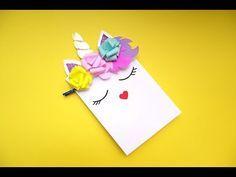 Cómo hacer una bolsa de papel - decorado como unicornio. (Y cómo hacer flores de papel✿ - YouTube Youtube, Paper Purse, How To Make Paper Flowers, Unicorn, Paper Envelopes, Youtubers, Youtube Movies