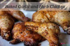 Baked Garlic and Herb Chicken Recipe - ConsumerQueen.com- Oklahoma's Coupon Queen