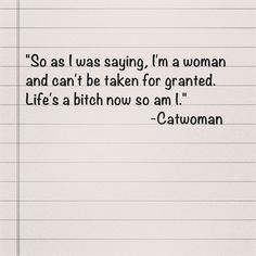 Catwoman Quote
