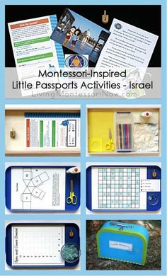 Today, I'm going to share some Montessori-inspired activities that work well with the Little Passports Israel package ... not too long before Hanukkah!