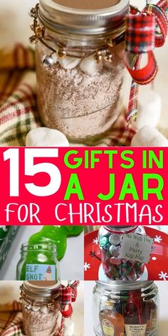DIY Christmas gifts in a jar for coworkers, friends, family and your partner. These mason jar Christmas gifts for women and for men are the perfect cheap homemade gift for the Holidays. # DIY Gifts for women 15 Best DIY Christmas Gifts In A Jar For 2019 Diy Gifts For Christmas, Mason Jar Christmas Gifts, Inexpensive Christmas Gifts, Mason Jar Gifts, Homemade Xmas Gifts, Gift Jars, Christmas Gifts For Neighbors, Christmas Gift Videos, Christmas Crafts To Make And Sell