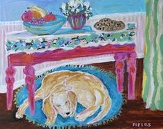Dog Painting It by Karen Fields