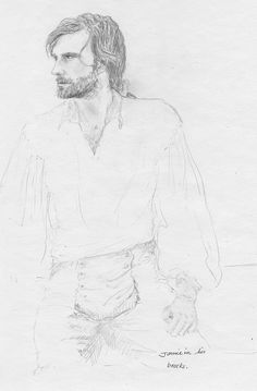 Jamie Fraser by Silvia...this woman does amazing drawings!
