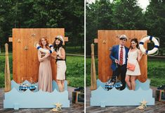 Not necessarily a Beach themed wedding photo booth but a booth to match your theme