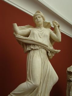 Fleeing Niobid from Greece or South Italy. According to the museum, it is from BCE, from a pediment reused in Rome in the century CE. Roman Sculpture, 1st Century, Greek Mythology, Museum, Poses, Statue, Artworks, Art Pieces, Sculptures