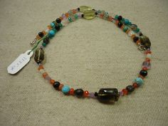 """AAA+ Natural Multi Stone Multi Shape Faceted Gemstone 17"""" Necklace , 113.5cts. #Kantaincorporation #Faceted"""