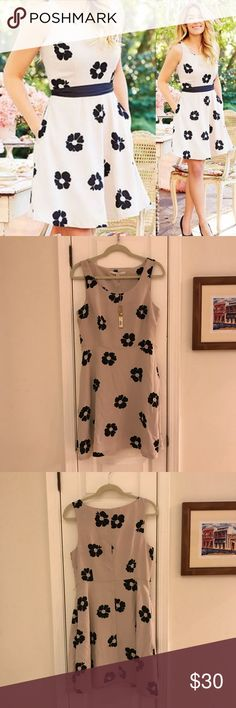 Lauren Conrad Floral Fit and Flare Dress Size 12 OMG! Love LC by Lauren Conrad. This NWT dress is absolutely perfect! Cream ground with black flowers. Fit and Flare design. Size 12. Polyester. Did I mention NWT? Belt pictured not included. Priced accordingly. LC Lauren Conrad Dresses
