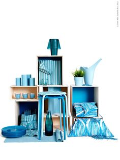 Colors from Ikea Visual Merchandising Displays, Visual Display, Shop Window Displays, Store Displays, Frosta Ikea, Interior Ikea, Ikea Stool, Showroom Design, Retail Store Design