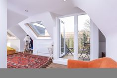 Loft attic room roof terrace velux