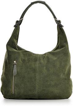 http://ift.tt/1QKXpVq CNTMP Damen Handtaschen Hobo-Bags Schultertaschen Beutel Beuteltaschen Trend-Bags Velours Veloursleder Wildleder Leder Tasche DIN-A4 44x36x4cm (B x H x T) (Khaki) #enmaki$