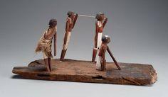 Model of men making bricks. Middle Kingdom, late Dynasty 11, 2010-1961 B.C.