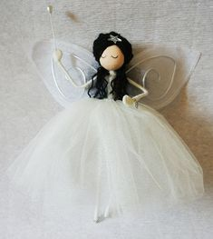 Christmas decoration -  Fairy Tree Topper - Elise -  guardian angel - OOAK art doll - Tree topper