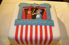 Punch & Judy bday cake