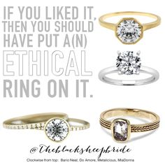 Ethical Engagement Rings You MUST SEE!